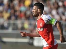 Falcao marcou o gol que deu a vitória ao Monaco. AFP