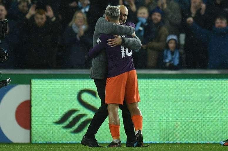El Manchester City remontó un 2-0. AFP