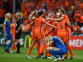 Lieke Martens and Vivianne Miedema handed hosts the Netherlands a 2-0 win over Sweden. AFP