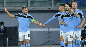 Ciro Immobile, left, won the European Golden Shoe last season. AFP