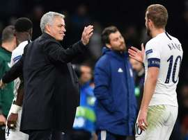 Kane absence has Mourinho down in the dumps. AFP