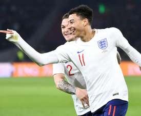 Lingard deu a vitória à Inglaterra. AFP