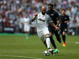 Simone Zaza will be on loan to Valencia from Juventus until the end of the season. AFP