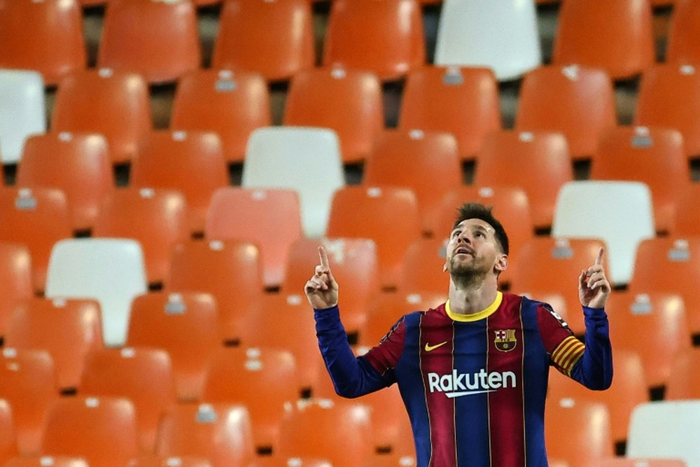 Lionel Messi will not train with Barca just yet. AFP