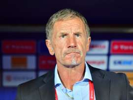 Stuart Baxter's South Africa were beaten by a late Nigeria goal in the quarter-finals. AFP