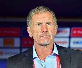 Stuart Baxter's South Africa were beaten by a late Nigeria goal in the quarter-finals. AFP