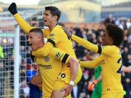 El Chelsea venció cómodamente al Burnley. AFP