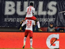 The win was Leipzig's first ever in the Champions League. AFP