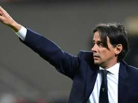 Inzaghi will be staying at Lazio for the near future after signing new deal. AFP