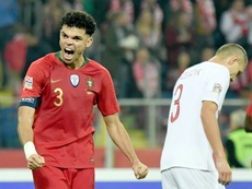 Pepe limped off in Portugal's win against Switzerland. AFP