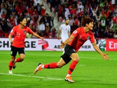 South Korea scraped into the quarter-finals of the Asia Cup. AFP