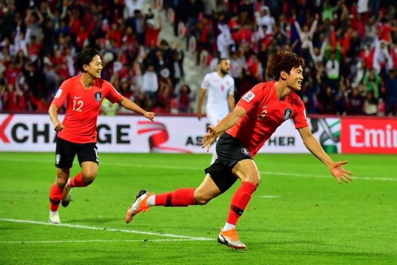 South Korea scraped into the quarter-finals of the Asia Cup. AFP
