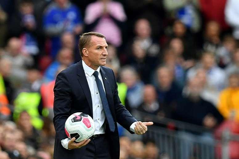 Rodgers renova com o Leicester até 2025. AFP