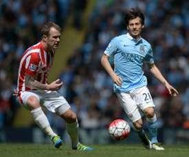 Glenn Whelan no tiene claro su futuro en el Stoke City. AFP