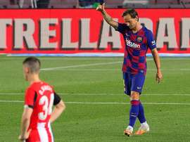 Ivan Rakitic scored the only goal of the game as Barcelona beat Athletic Bilbao. AFP