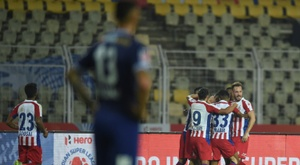 ATK became the ISL champions behind closed doors. AFP