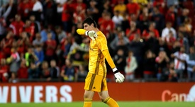 The laser pen incident involving Courtois was mentioned in the referee's match report. AFP
