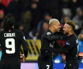 Neymar, Mbappe and Cavani were all on the scoresheet for PSG. AFP