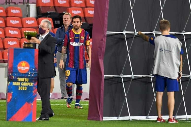 Koeman revient sur le faux départ de Messi. AFP