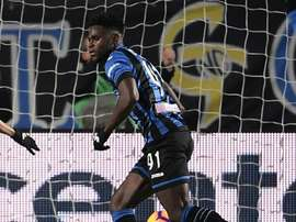 Zapata plundered a hat-trick against his former club. AFP