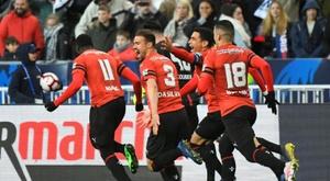 Rennes a gagné contre Montpellier malgré l'exclusion de Flavien Tait. Goal