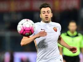 La Roma consigue el triunfo ante el Liverpool. AFP