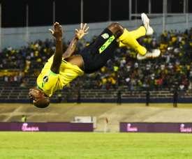 Orgill anotó dos goles en la victoria de Jamaica. AFP