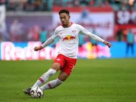 El Leipzig reclamó más atención al gol de Matheus Cunha. AFP