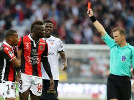 Balotelli was sent off. AFP