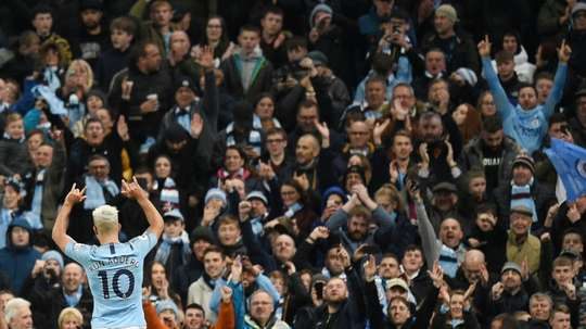 Aguero has been electric for Man City but continues to be omitted by Argentina. AFP
