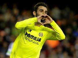 Adrian Lopez scored five goals in 23 appearances when on loan at Villarreal. AFP