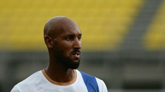 Former France international Nicolas Anelka, pictured on October 1, 2014, has launched a scathing attack on his fellow former France international Lilian Thuram by comparing him to Samuel L Jacksons character in Tarantino film Django Unchained