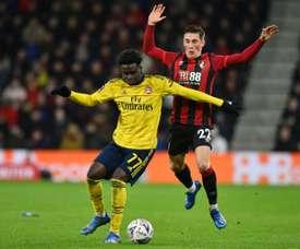 Saka va parapher un nouveau bail avec les Gunners. AFP