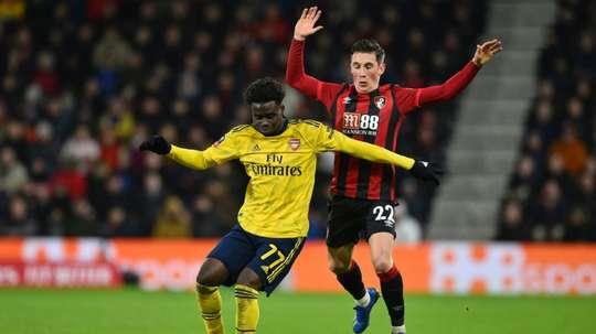 Saka ne prolonge pas, Arsenal s'inquiète. AFP
