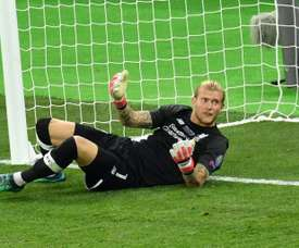 Karius wants to stay at Liverpool. AFP