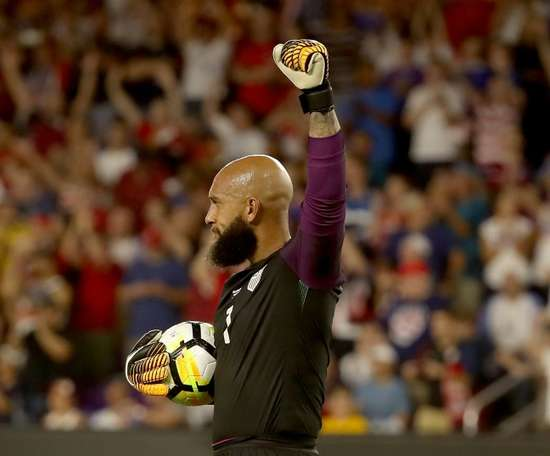 The veteran stopper is the most capped player in USA history. AFP