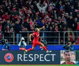 Sevilla were no match for Spartak. AFP
