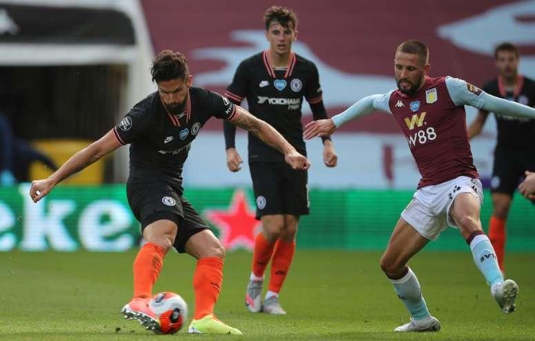 Olivier Giroud scored the winner for Chelsea at Aston Villa. AFP