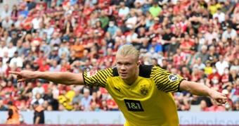 El Liverpool desestima el fichaje de Haaland. AFP