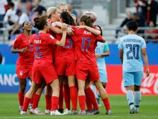 USA were criticised for their continued celebration against Thailand. AFP
