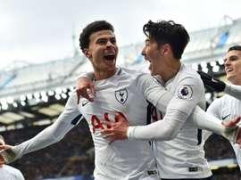 El Tottenham nunca bajó los brazos. AFP