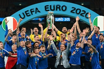 Italy were crowned champions of Euro 2020. AFP