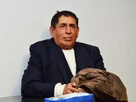 A picture released by Guatemalas Foreign Ministry shows Guatemalan Football Federation former president Brayan Jimenez, at La Aurora international airport in Guatemala City on March 1, 2016 moments before being extradited to the United States