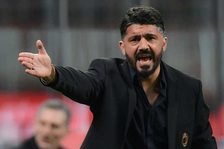 Sampdoria y Lazio, posibles destinos para Gattuso. AFP