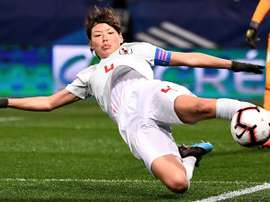 Football's coming home for Japan's Saki Kumagai. AFP