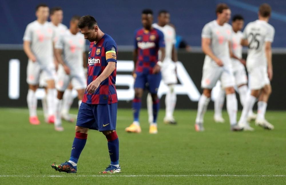 El Barcelona cayó por 2-8 ante el Bayern en 2020. AFP
