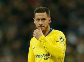 Eden Hazard falou sobre a polémica com Kepa. AFP