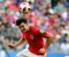 Harry Maguire could be on his way to Manchester City in the summer. AFP