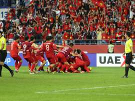 Vietnam came through a penalty shoot out to reach the quarter-finals. AFP