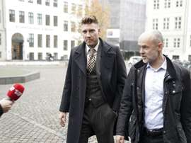 Bendtner has dropped the appeal against his sentence. AFP